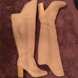 Fergalicious Over The Knee Suede Boots